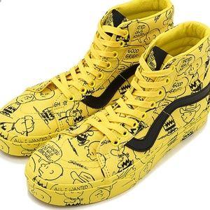 Hot VANS X PEANUTS Snoopy Yellow